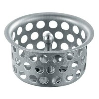 Waxman 7638600T Basin Strainer Cup with Post, Stainless Steel