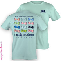 Simply Southern Life is Full of Choices Bows Shirt - Mint