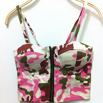 Stree Style Camouflage Corset