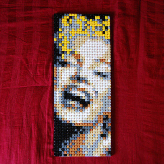 Lego Marilyn Monroe Lego Pixel Art From Brixelate On Etsy