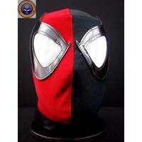 SPIDERMAN RED BLACK Lycra Mexican Wrestling Lucha Libre Mask Halloween Mask Costume - Mr. Maskman