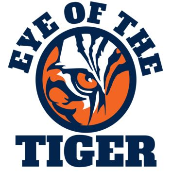 Eye of the Tiger - Blue & Orange