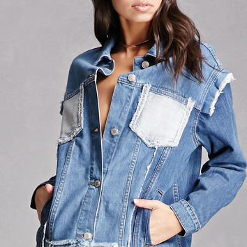 Colorblock Pocket Denim Jacket