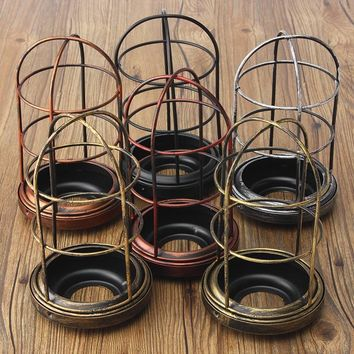 105x200mm Iron Edison Vintage Retro Lampshade Ceiling Light Fitting Lamp Guard Wire Cage Bar Cafes Decor Lamp Cover Lamp Base