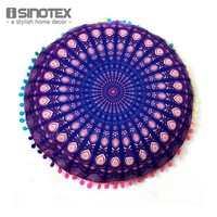 Stylish Mandala Floor Pillows Round Bohemian Meditation Cushion Cover
