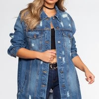Million Reasons Distressed Denim Jacket