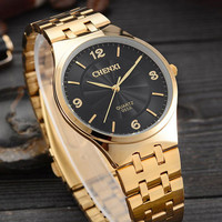 Original CHENXI Gold Watch Men Women Brand Luxury Famous Golden Clock Male Female Ladies Relogio Masculino Feminino Montre Femme