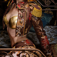 Toreador Jacket - Damascus Brocade by Shrine Clothing Gothic Dresses