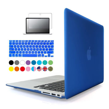 3in1 Matte Case For Apple macbook Air Pro Retina 11 12 13 15 inch Protector For Mac book 11.6 13.3 15.4 Touch bar A1706 A1707