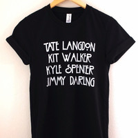 AHS Tate, Kit, Kyle and Jimmy Black Graphic Unisex Tee