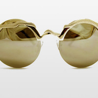 Gold Snake Sunglasses by Spitifire