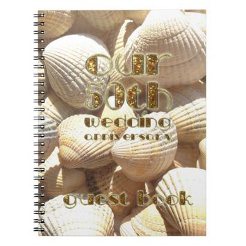 50th Wedding Anniversary Guest Book Summer Shells