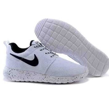 Nike roshe run couple light sports leisure net surface breathable Olympic  running shoes White (white f06d3faec