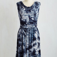Mid-length Sleeveless A-line Live and Let Tie-Dye Dress