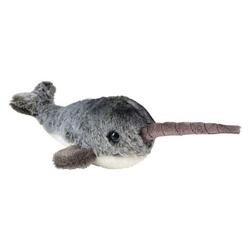 7 Inch Stuffed Narwhal Plush Animal Kingdom Collection