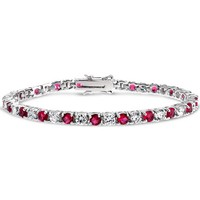 Bling Jewelry Ruby Rocks Bracelet