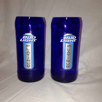 Upcycled Bud Light Platinum Beer Bottle by RandomCraftsBySundee