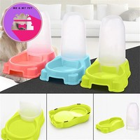 27.5 * 17.7 * 25 cm Large Automatic Pet Food Water Feeder Pet Supplies Pet Dogs Cat Dish Bowl Tools Bowl Dispenser 2017 New