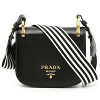 Prada Black Leather Pionnière bag