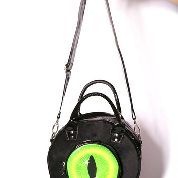 Kreepsville 666 Black Cat Eyeball Bag One