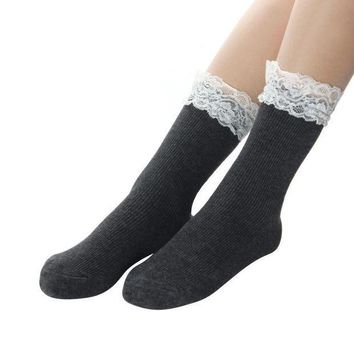CREYG8W Japanese Women White Lace Ankle Socks Lovely Ladies Princess Frilly Sock With Lace Retro Lolita Ruffle Socks #OR