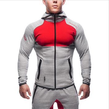 2017 New brand Gyms AS Hoodies sporting hoodies men sweatshirt patchwork full sleeve Muscle Brothers man hoodies sportwear