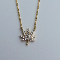 Ganja Necklace - Gold