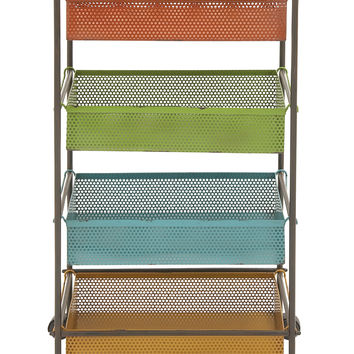 Colorful And Lovely Metal Storage Cart
