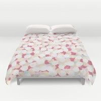 Cotton Candy Drops Duvet Cover by Kat Mun