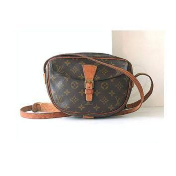 PEAPYD9 Auth Louis Vuitton Monogram jeune fille shoulder bag vintage purse