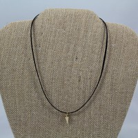 Cord Choker with Gold Horn