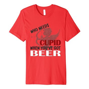 Funny Anti Valentine's Day Cupid Shirt- Beer Brewing T-shirt
