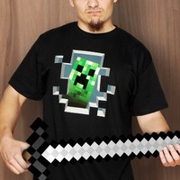 Minecraft Creeper Inside T-shirt Xl