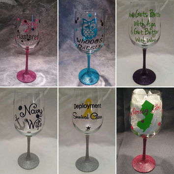 Wine Glass Decal for the DIY in you