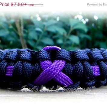 CIJ SALE Alzheimer's, Domestic Violence, Pancreatic Cancer, Epilepsy, Lupus, Chron's Disease, Cancer Awareness Paracord Bracelet Custom and