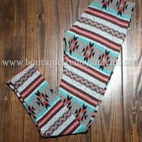 ETHNIC PRINT KNIT LEGGINGS