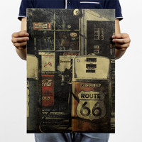 Us Route 66 Gas Station Poster 20X14