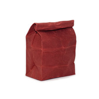 Lunch Bag in Scarlet // Waxed Canvas Lunch Bag // Lunch Bags // Canvas Lunch Bag