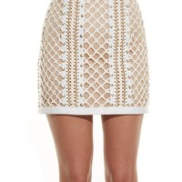 Lace-up leather mini skirt | Balmain | MATCHESFASHION.COM US