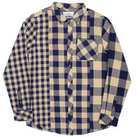 Altru Apparel Plaid Mashup LS - Beige