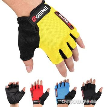 GZDL Guantes Ciclismo Breathable Outdoor Bicycle MTB BMX Road Bike Antiskid Short Half Finger Cycling Gloves Gel Pad MTB9006