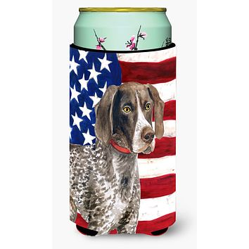 German Shorthaired Pointer Patriotic Tall Boy Beverage Insulator Hugger BB9641TBC