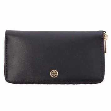 Tory Burch Parker Zip Wallet, Black