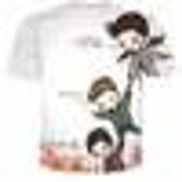 Supernatural cas dean and Sam T-Shirt Women Men Fashion 3D t shirt Summer Style Fashion Loose casual harajuku tee tshirt wear