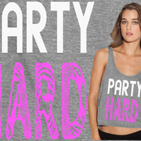 Party Hard Flowy Tank Top