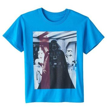 DCCKX8J Star Wars Darth Vader & Stormtroopers Tee - Boys 8-20 Size