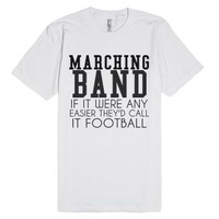 Marching Band Football T-shirt-Unisex White T-Shirt