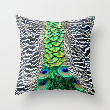 Nature's pattern Throw Pillow by Littlesilversparks | Society6