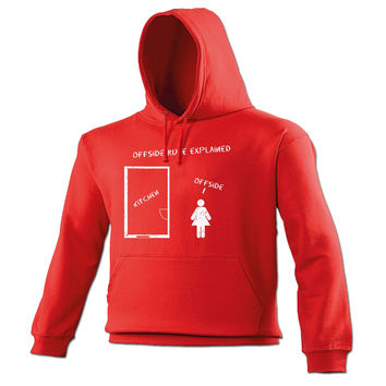 123t USA Offside Rule Explained Kitchen Offside Funny Hoodie