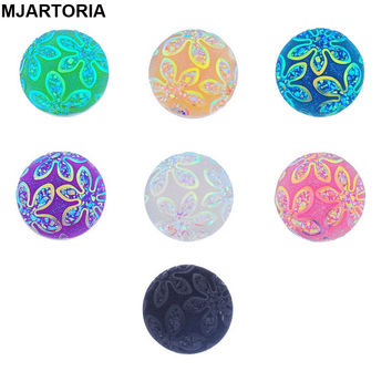 Snaps Jewelry 10PCs Flower Cameo Multicolor Mixed Snap Buttons For Snap Button Jewellery 18mm K85561